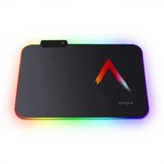 RGB Gaming Mouse Pad, Small Durable Suitable Size Glowing LED Mousepad, Non-Slip Rubber Base Computer Soft Keyboard Pad Mat(14 x 10in)